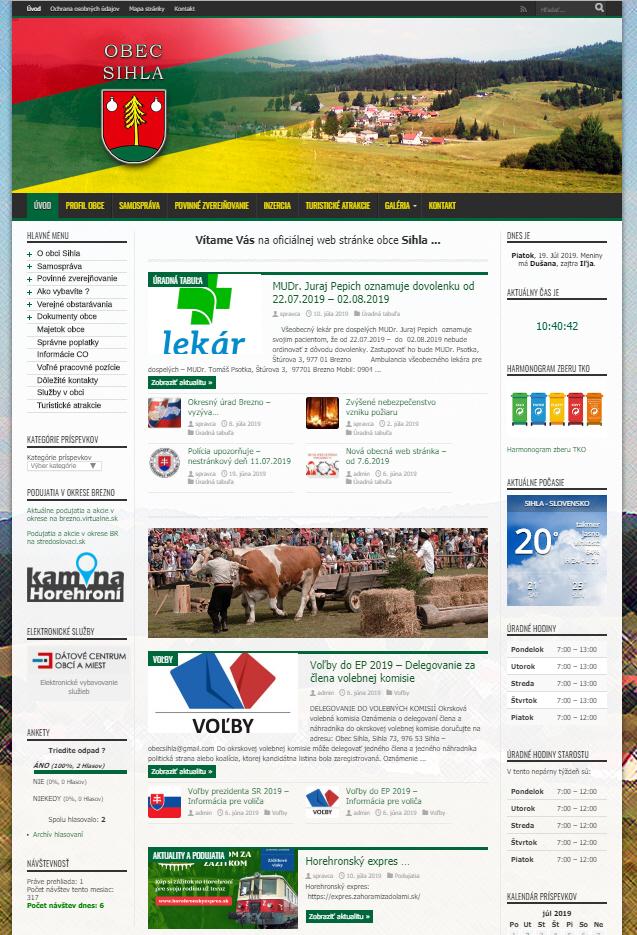 Obecná stránka obce Sihla